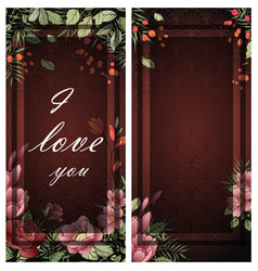 wedding invitation frame vector image