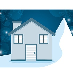 Winter homes design vector