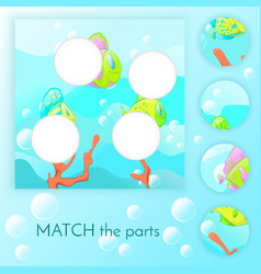 compliance with childrens educational game match vector image