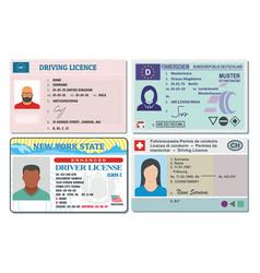 driver license banner horizontal set flat style vector image vector image