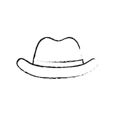Figure elegant hat to use in the head vector