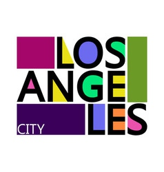 Los Angeles City T-shirt Typography Graphics vector image