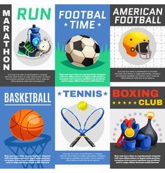Modern Sport Posters Set vector image