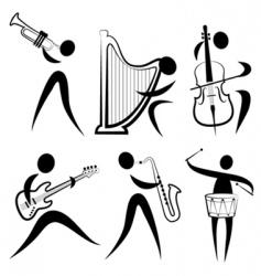 musician symbol vector image vector image