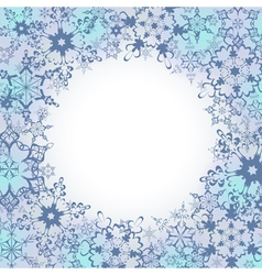 Ornamental winter frame with ornate snowflakes vector image