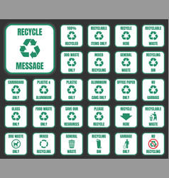 recycle icons set vector image