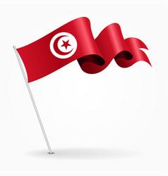 tunisian pin wavy flag vector image vector image