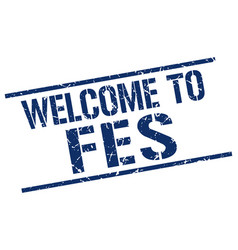 welcome to fes stamp vector image