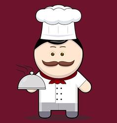 Cartoon cute chef vector image