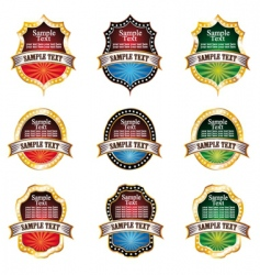 vintage emblems set vector image