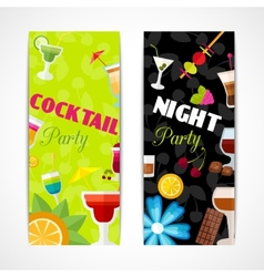 Cocktails banner vertical vector image vector image