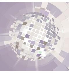 Disco ball explosion vector image
