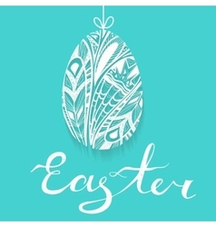Seamless pattern with easter eggs Green backdrop vector image vector image