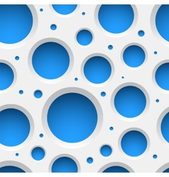 White plastic seamless pattern with holes vector image vector image