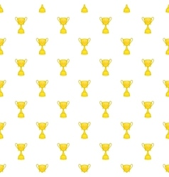 Cup football pattern cartoon style vector image vector image