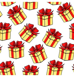gift contour pattern vector image