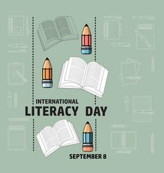 International literacy day september 8 vector