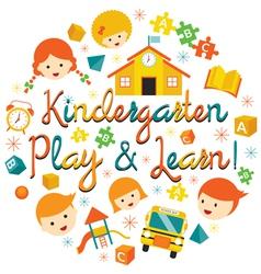 Kindergarten Preschool Kids Heading vector image