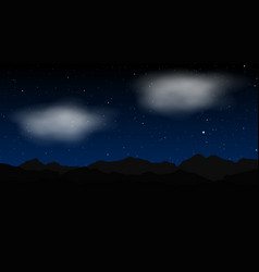 star night landscape vector image