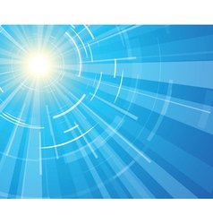 sun on a blue sky vector image