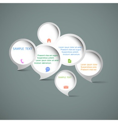 Web design speech bubbles vector image