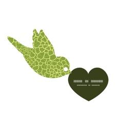 Abstract green natural texture birds vector