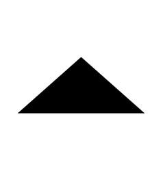 arrow glyph black icon vector image