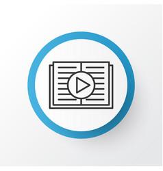 Audio book icon symbol premium quality isolated vector