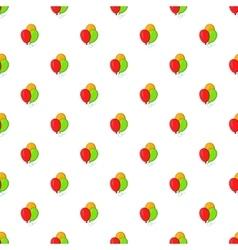 Balloons pattern cartoon style vector