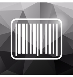 Barcode icon on polygonal background vector image