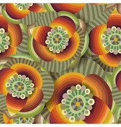 Beautiful decorative floral ornamental seamless vector image