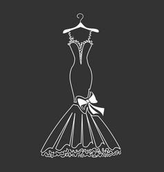 Beautiful dress silhouette vector