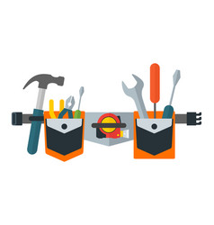 Belt with tools tools for repair construction vector
