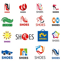 Biggest collection of logos shoes vector