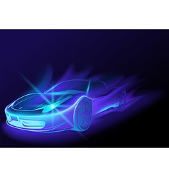 Blue Glowing Car vector