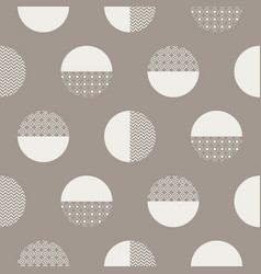 Bold circles textured seamless pattern vector