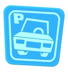 Car parking icon cartoon style vector image