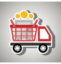 Car shop buy online vector