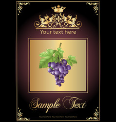 chocolate grapes realistic vector image