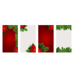 christmas hilidat background for instagram vector image