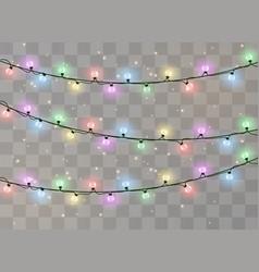 Christmas lights isolated vector