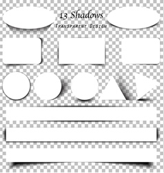 Collection of transparent shadows vector image vector image