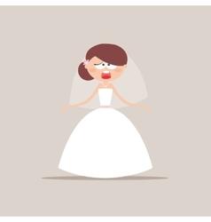 Cute Bride Expression Faces vector image