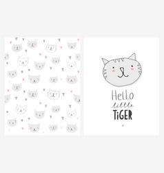 cute hand drawn cats vector image