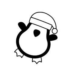 cute penguin character isolated icon vector image