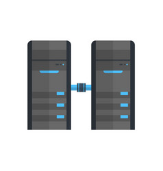 Data center icon cloud computer connection hosting vector