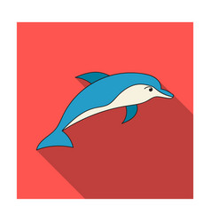 dolphin icon in flat style isolated on white vector image