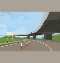 Elevated road scene vector