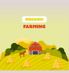 Farm surroundings grounds agriculture vector