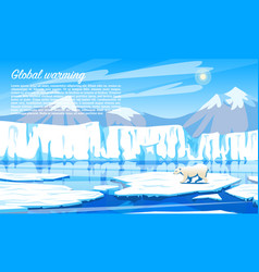 global warming environmental problem climate vector image
